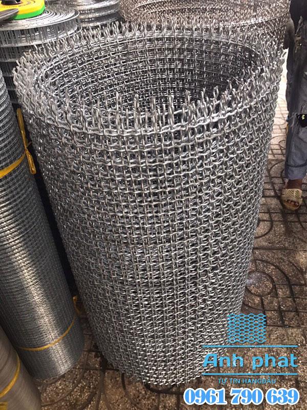 cuộn lưới đan inox ô 20mm