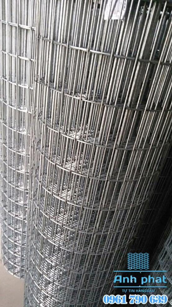 lưới thép hàn mạ kẽm ô chữ nhật