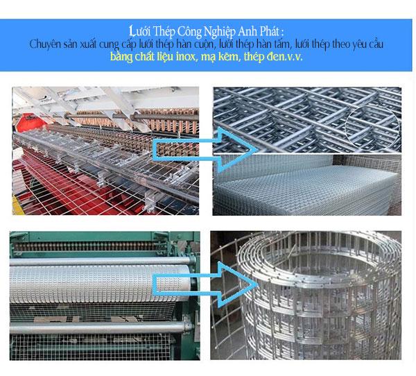 quy trình sản xuất lưới thép hàn lổ 10 phân