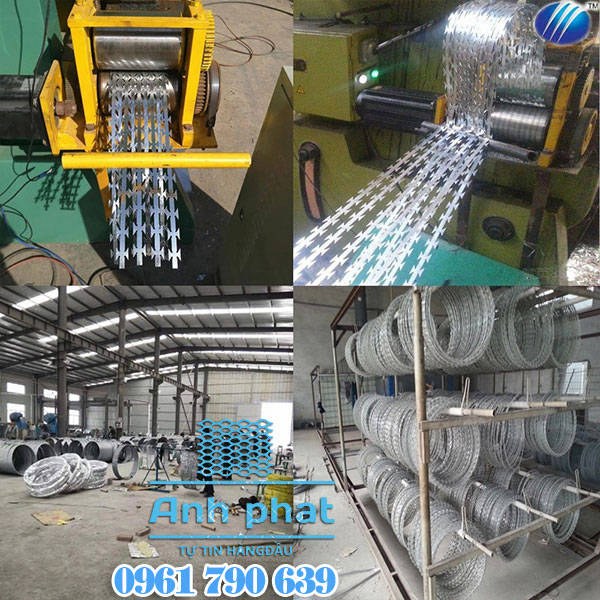sản xuất dây thép gai lưỡi lam