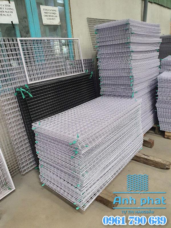 Lưới thép hàn sơn tĩnh điện trắng