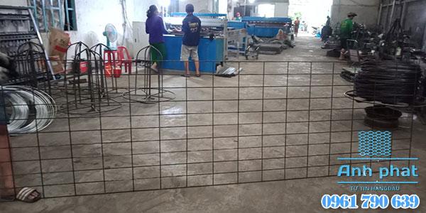 lưới thép làm nền bê tông